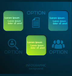 Infographic business web concept vector