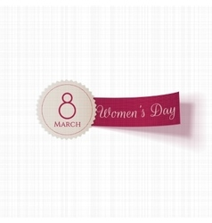 International Womens Day Emblem with Ribbon vector
