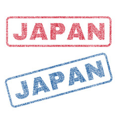 Japan textile stamps vector