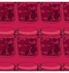 Jars of jam vector image