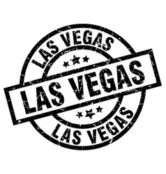 las vegas black round grunge stamp vector image