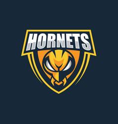 Logo hornets e sports style vector