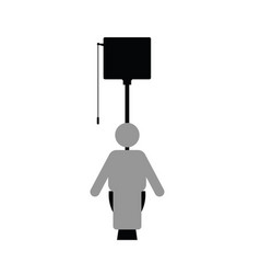 Man icon on toilet vector