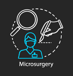 Microsurgery chalk icon vector