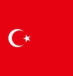 National flag republic turkey vector