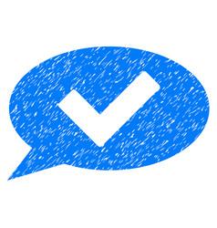 Ok message grunge icon vector