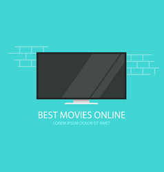 online video movies or tv cinema flat vector image