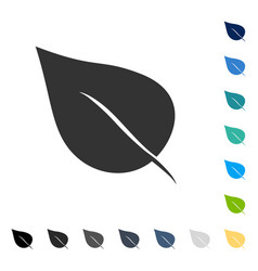Plant leaf icon vector