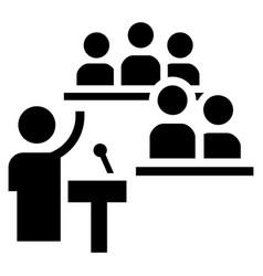Political speech icon simple style vector