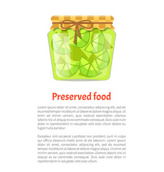 Preserved food poster lime lemon home cooked jam vector