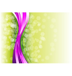 Purple vertical wave on the green vector