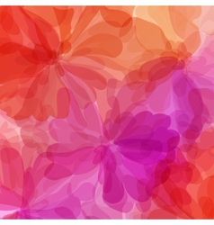 Red background watercolor painting vector image