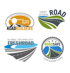 road construction build and repair service icon vector image