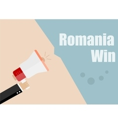 Romania win Flat design business vector