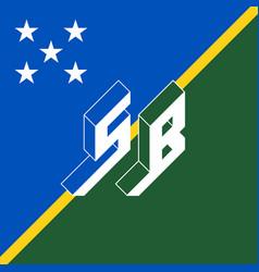 Sb - international 2-letter code or national vector