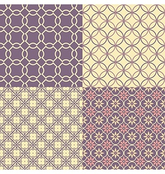 Seamless abstract patterns vector image