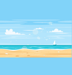 seamless landscape with sea shore vector image