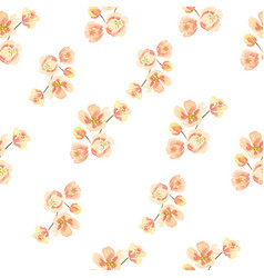 Seamless pattern floral lush watercolour style vector