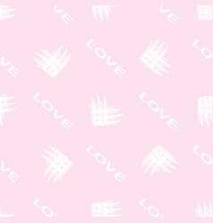 seamless pattern of different types of hearts and vector image
