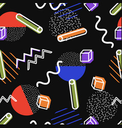 seamless retro comic memphis pattern vector image