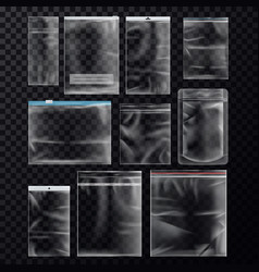 set isolated sealed sachet or packs vector image