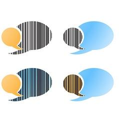 set of blank speech bubbles blue orange black vector image
