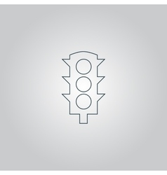 Simple Traffic light vector image