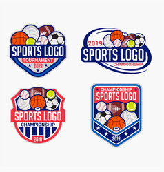 sports logo badge vector image