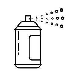 Spray can with liquid sustance spraying from vector
