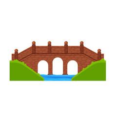 stone bridge footbridge architectural design vector image