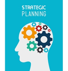 Strategic planning design vector