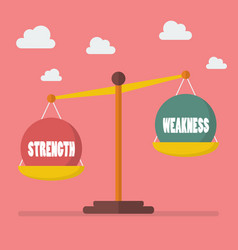 Strength and weakness balance on scale vector
