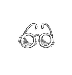 sunglasses sketch drawing icon summer themed vector image
