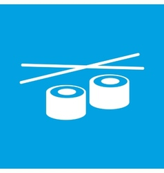 Sushi white icon vector image