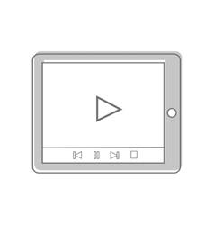 Tablet Isolated on White Video Marketing vector