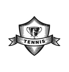 tennis badge logo designs inspiration isolated on vector image