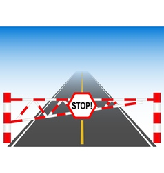 The road with a barrier vector image