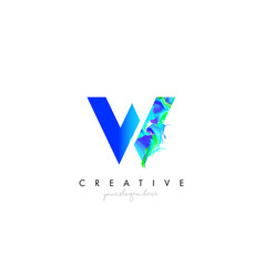w letter icon design logo with creative artistic vector image