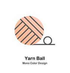 yarn ball mono color icon vector image