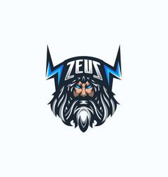 zeus esport gaming mascot logo template for vector image