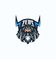 Zeus esport gaming mascot logo template vector