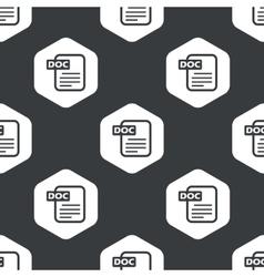 Black hexagon DOC file pattern vector image