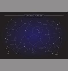 constellation set vector image vector image