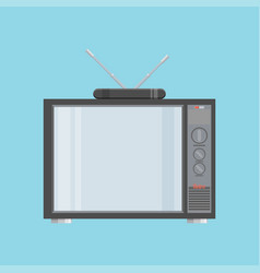 flat icon retro tv vector image vector image