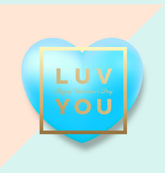 modern golden typography valentines day greetings vector image