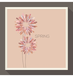 Poster with abstract pastel-colored flower vector image vector image