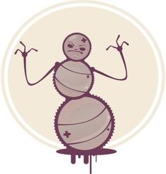 Cartoon Snowman vector image