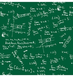 seamless math formulas background vector image