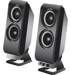 Stereo loudspeakers vector image vector image