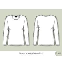 Women long sleeve shirt Template for design vector image vector image